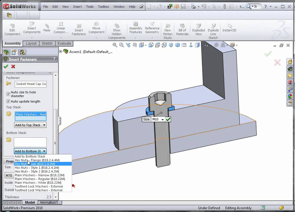 Smart Fasteners/toolbox Can't Use In Solidworks