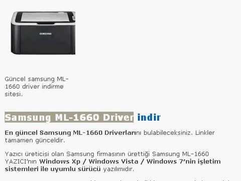 Samsung Ml-1660 драйвер скачать
