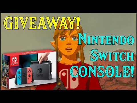 GIVEAWAY! Nintendo Switch CONSOLE! Viewers CONTEST! ANYONE IN THE UNIVERSE CAN JOIN! in Zelda BotW