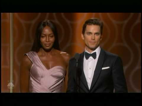 Matt Bomer & Naomi Campbell presenting at 2017 Golden Globes