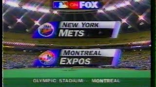 MLB on FOX - 1996 Mets vs Expos - game open
