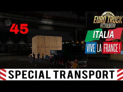 Let's Play Euro Truck Simulator 2 - Italia DLC Part 45 Special Transport Massive Tech Part