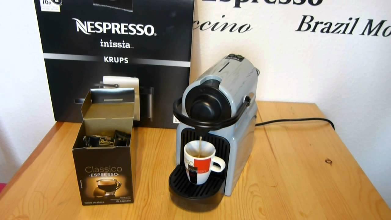bellarom kaffeekapsel lidl in nespresso inissia youtube. Black Bedroom Furniture Sets. Home Design Ideas