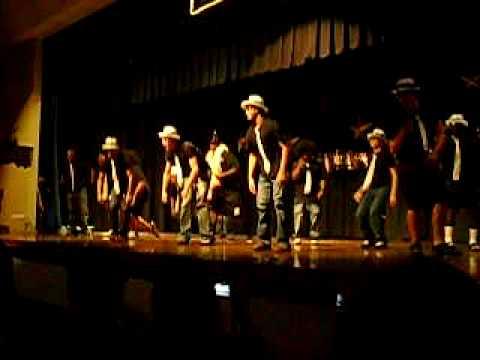 Chiefland high school Boys pow wow dance