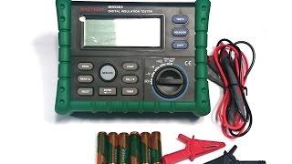 Мегаомметр MS5203 MASTECH. Как измерить сопротивление изоляции кабеля. Видео от Electronoff.(Среди цифровых измерительных приборов, отдельное место занимают мегаоометры. Мегаомметр MS5203 MASTECH может..., 2015-07-31T14:41:50.000Z)