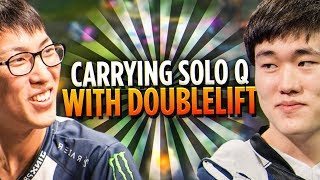Pobelter - CARRYING SOLO QUEUE WITH DOUBLELIFT!
