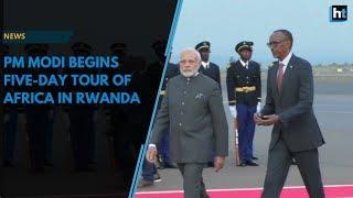 PM Modi in Africa: Greeted by guard of honour, folk dance in Rwanda