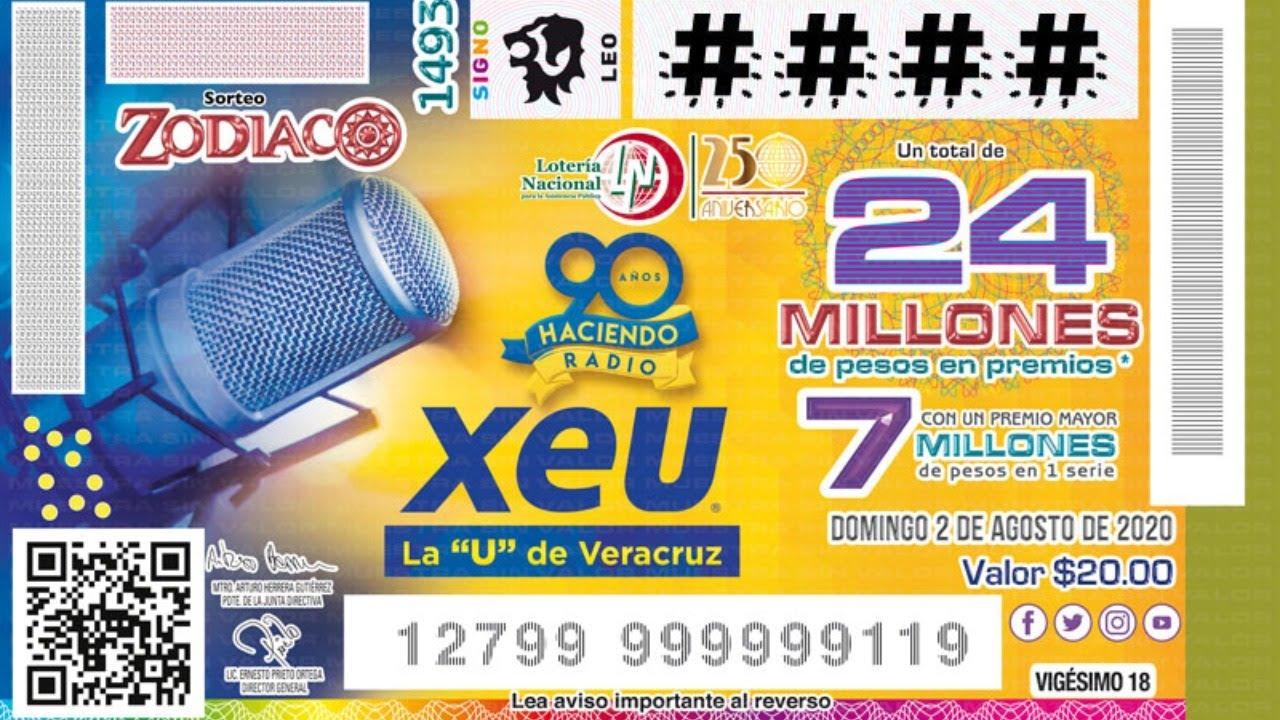 Sorteo Zodiaco No.1493 | Conmemorando el 90 Aniversario la XEU de Veracruz