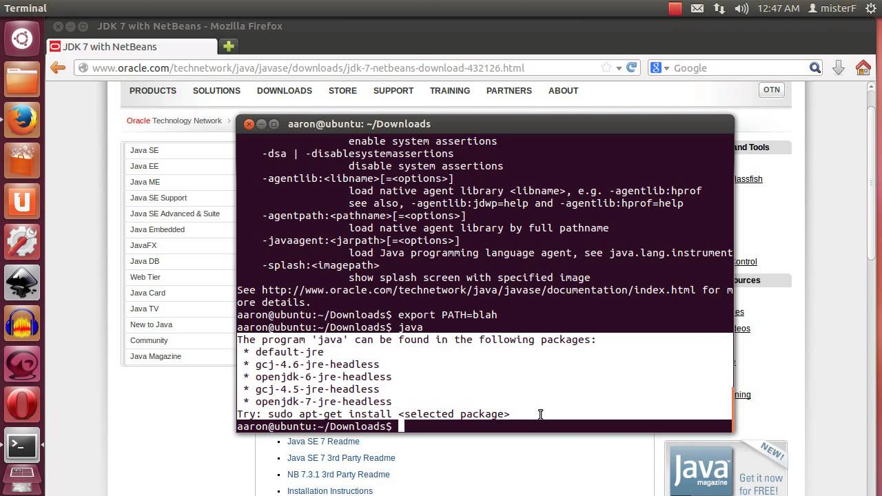 How to install Netbeans and the Java JDK on Ubuntu (Linux