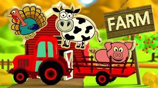 Zwierzęta dla dzieci na wsi na traktorze | CzyWieszJak