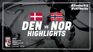 Game Highlights: Denmark vs Norway May 11 2018 | #IIHFWorlds 2018