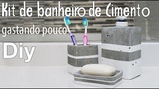 Aprenda a Fazer Kit Para Banheiro – Em Cimento