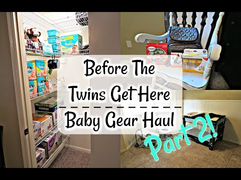 STOCKING UP BEFORE THE TWINS GET HERE | Part 2 Baby Gear!