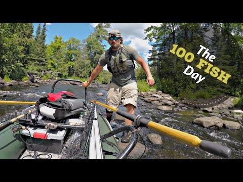 100 Fish Day | Remote Upper Peninsula Michigan Fishing (Smallies, Pike, & More)
