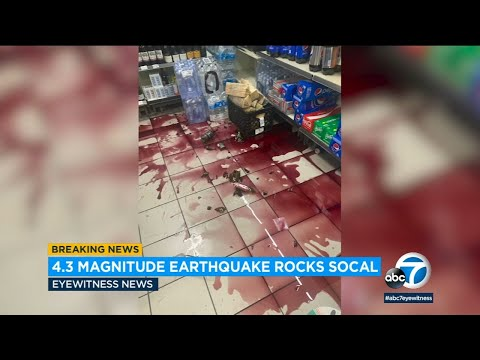 Carson Earthquake: Footage Captures Moment Quake Rattled Southland
