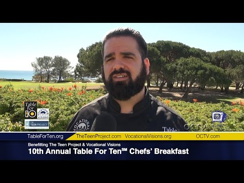 Executive Chef Greg Moro, Private Chef, Discusses 10th Annual Table For Ten℠