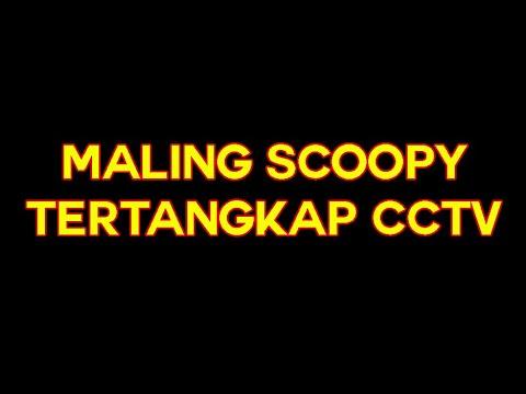 MALING SCOOPY TERTANGKAP CCTV