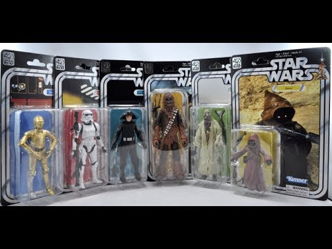 Star Wars 40th Anniversary Wave 2 Black Series Figures (Review And Comparisons)