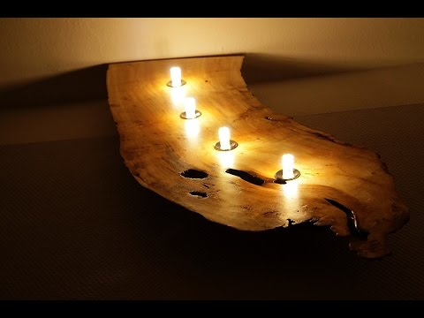 designer wandlampe selbst gemacht youtube. Black Bedroom Furniture Sets. Home Design Ideas