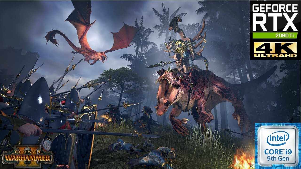 Large battle Total War  Warhammer 2: Ultra settings Benchmark test RTX 2080 Ti