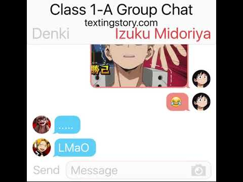 Boku No Hero Group Chat After Internship!