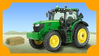Tractors Working on the Farm | Machines for Kids