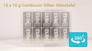 10 x 10 Gramm Silber Combicoin - der bessere Silber Combibar