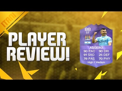 FIFA 16 HERO AGUERO 88 Player Review & In Game Stats Ultimate Team