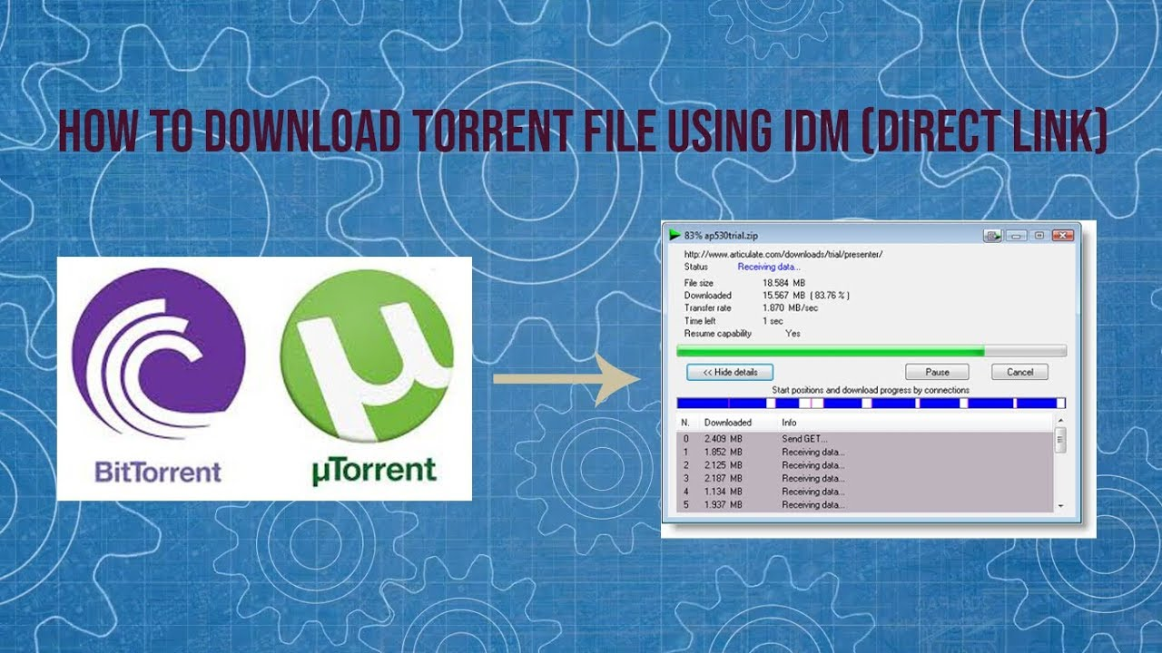 how do to convert torrent file to direct links