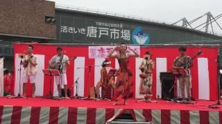 下関市唐戸市場前で開催されたお祭りのステージ模様です.