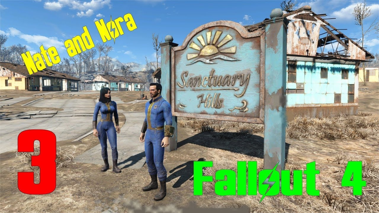 Fallout 4 Nate and Nora (Ch 1) # 3 Fixing Up Sanctuary