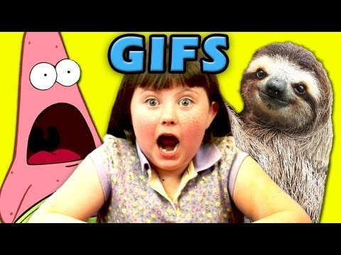Kids react to gifs surprised patrick sloths deal with it