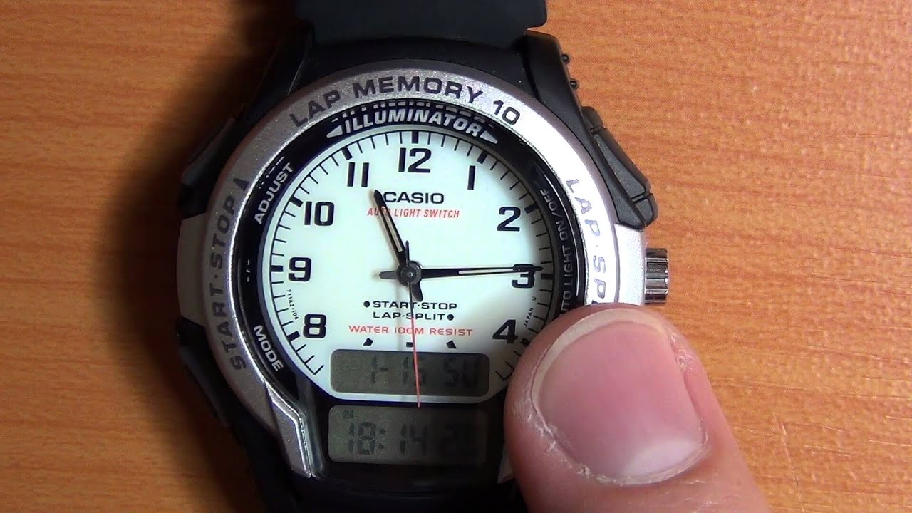 wrist watch review part 10 casio ws 300 youtube rh youtube com casio ws-300 manual español casio 5160 ws-300 manual