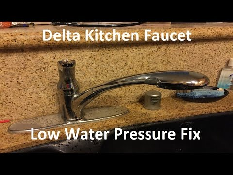 tutorial:-delta-kitchen-faucet-low-water-pressure-fix