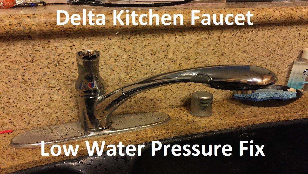 tutorial delta kitchen faucet low water pressure fix