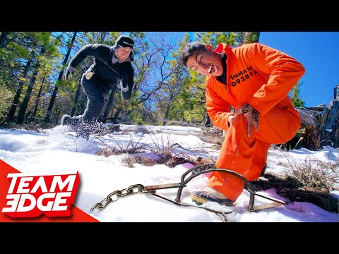 Prison Escape Challenge on a Snowy Mountain!!