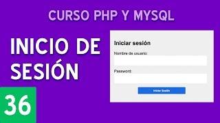 Sistema de login completo usando sesiones | Curso PHP y MySQL #36