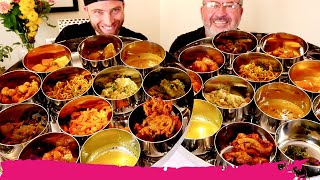 Making Our Own INDIAN THALI 15+ Items! Indian Food in Miami, Florida