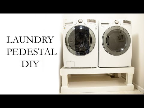 Laundry Washer Dryer Pedestal DIY