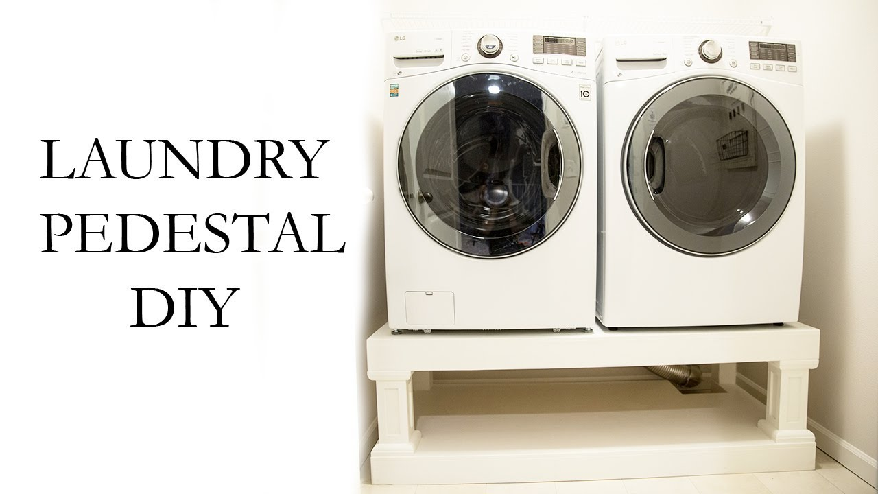 Laundry washer dryer pedestal diy youtube laundry washer dryer pedestal diy solutioingenieria Gallery