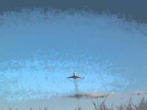 Tatarstan Airlines TU-154 take-off in LHSM, nice sound