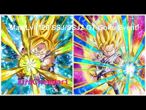Dbz Dokkan Battle Max LVL 120 SSJ/SSJ2 GT Goku Event!