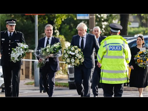 In full: Boris Johnson and Keir Starmer visit scene where MP Sir David Amess was fatally stabbed