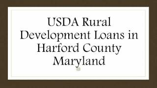 USDA Loans in Harford County MD