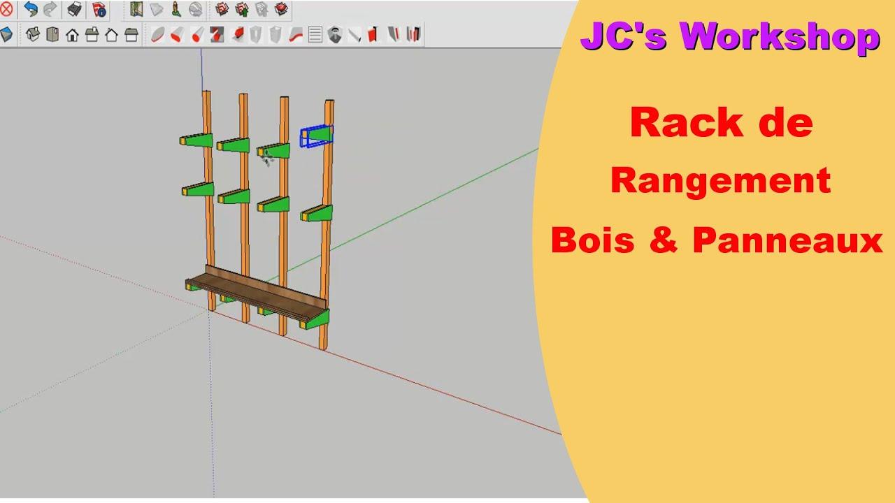 Comment faire un rack de rangement bois & panneaux  Travail du boi ~ Comment Fabriquer Un Bouclier En Bois