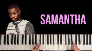 Dave x J Hus - Samantha (Piano Tutorial)
