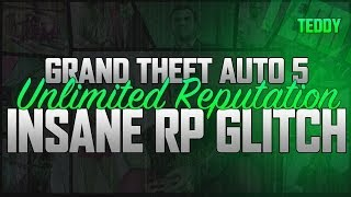 "GTA 5 ONLINE: UNLIMITED RP GLITCH ""INSANE RP"" AFTER PATCH 1.08 - FAST RANK 500K/HR+ (GTA V GLITCH)"
