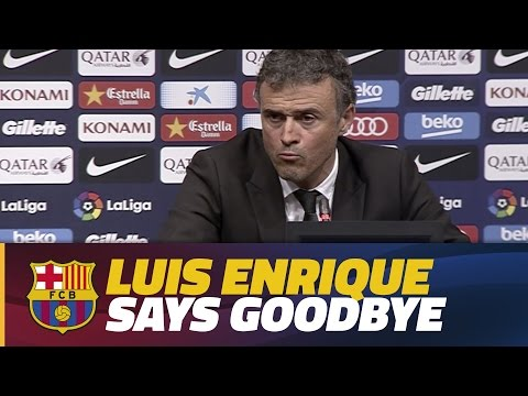 Luis Enrique announces he will not continue as Barça manager next season