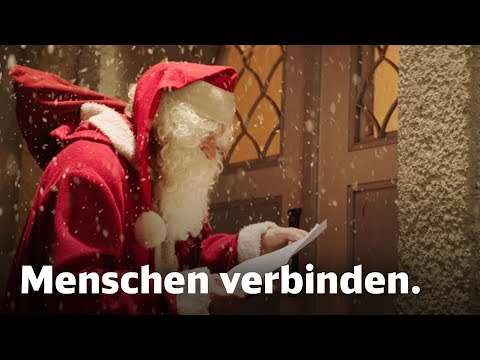 Die Deutsche Bahn wünscht frohe Weihnachten – Menschen verbinden