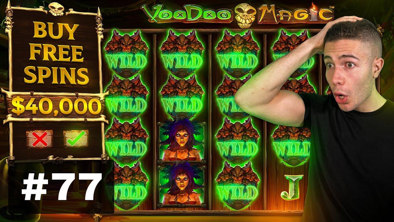 $40000 BONUS BUY on Voodoo Magic, SUPER HIGHROLL on Sabaton - AyeZee Stream Highlights #77